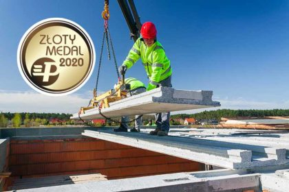 Strop TERIVA PANEL z KONBET Poznań nagrodzony Złotym Medalem MTP BUDMA 2020