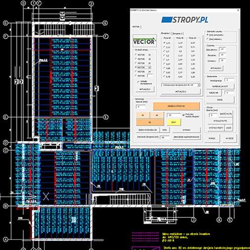 Oprogramowanie do projektowania stropów KONBET Poznań