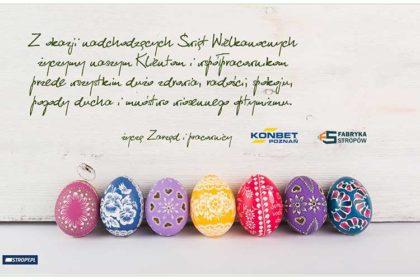 Życzenia Wielkanocne - KONBET Poznań 2020