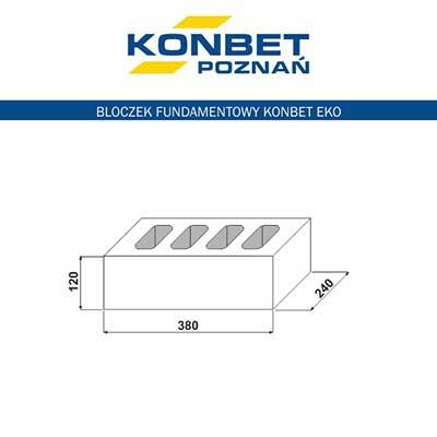 Bloczek fundamentowy B6 EKO - KONBET Poznań