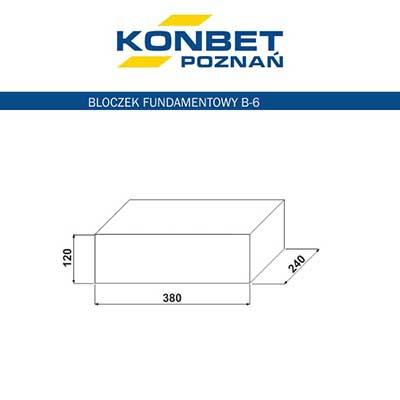 Bloczek fundamentowy B6 - KONBET Poznań
